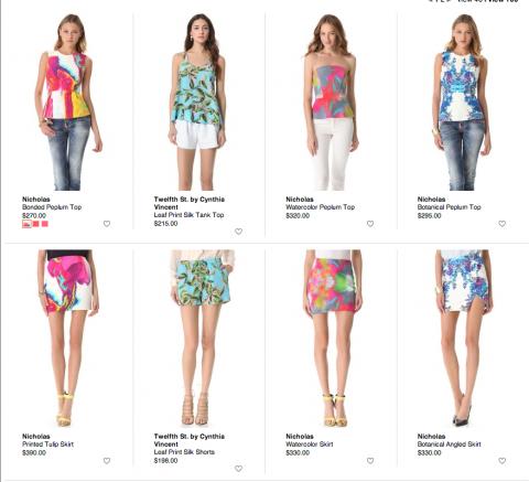 spring prints, shopbop, shopbop giveaway