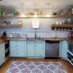 Refinish Kitchen Countertop Taupe Painted Cabinets Kitchen, 1950's, Metal Cabinets, Refinished, Youngstown