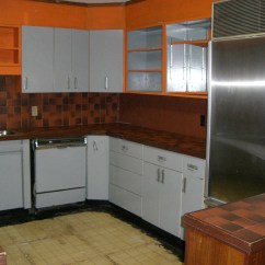 Metal Cabinets Kitchen Valances Before 1950s Refinished