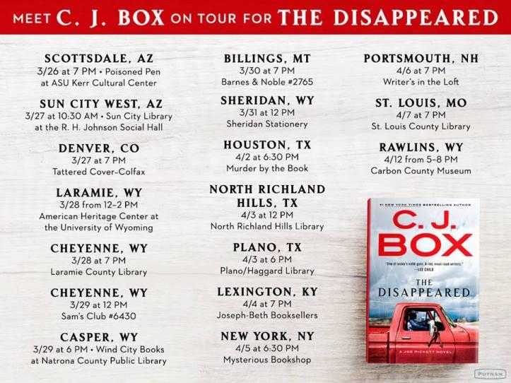 CJ Box book tour The Disappeared.jpg