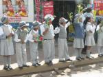 Schoolkids love a parade