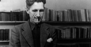 George Orwell typing