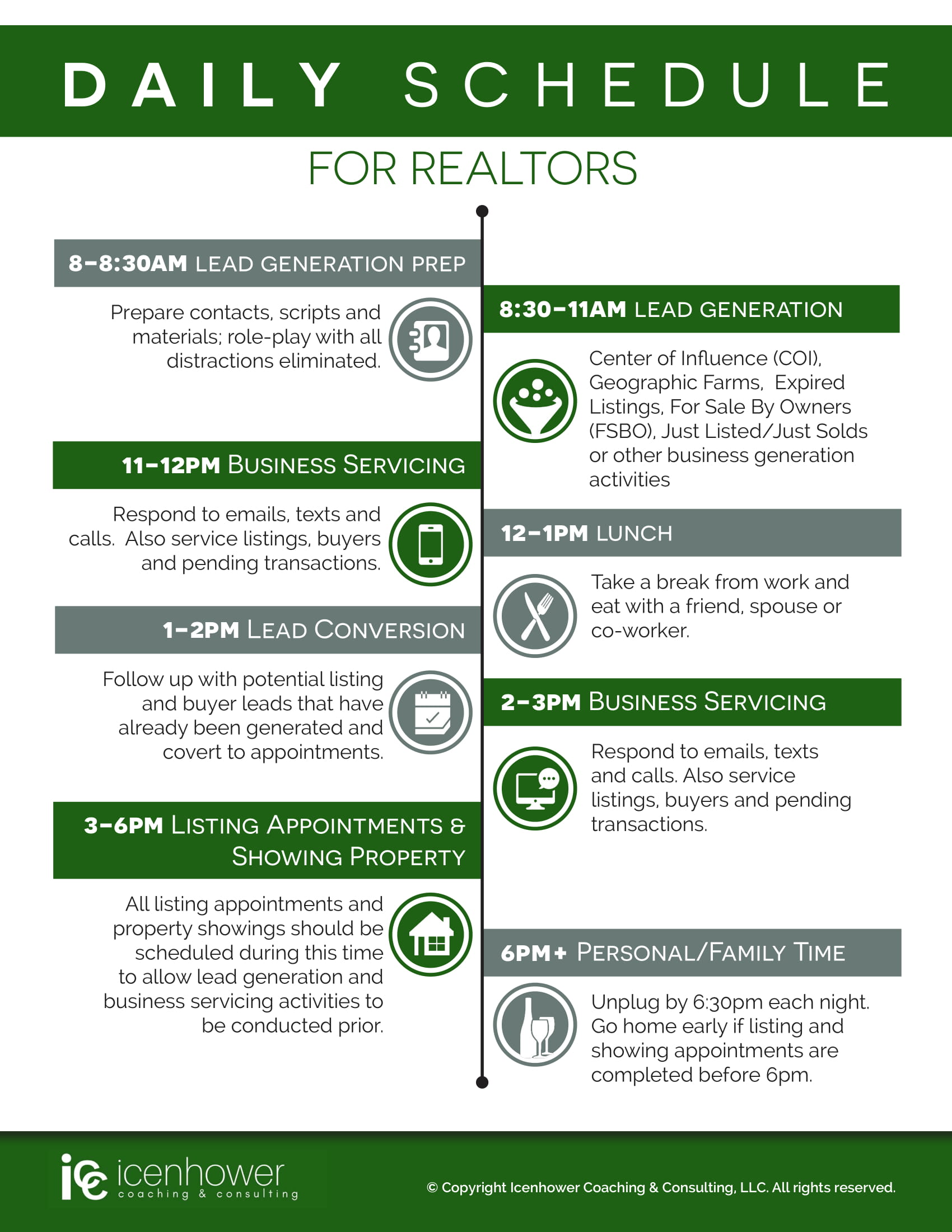 Top Realtor Daily Schedule