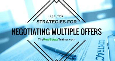 Multiple Offer Negotiation Strategies for Real Estate Agents