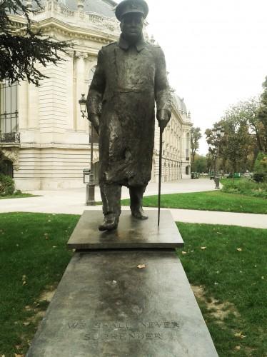 Statue of Churchill near the Petit Palais