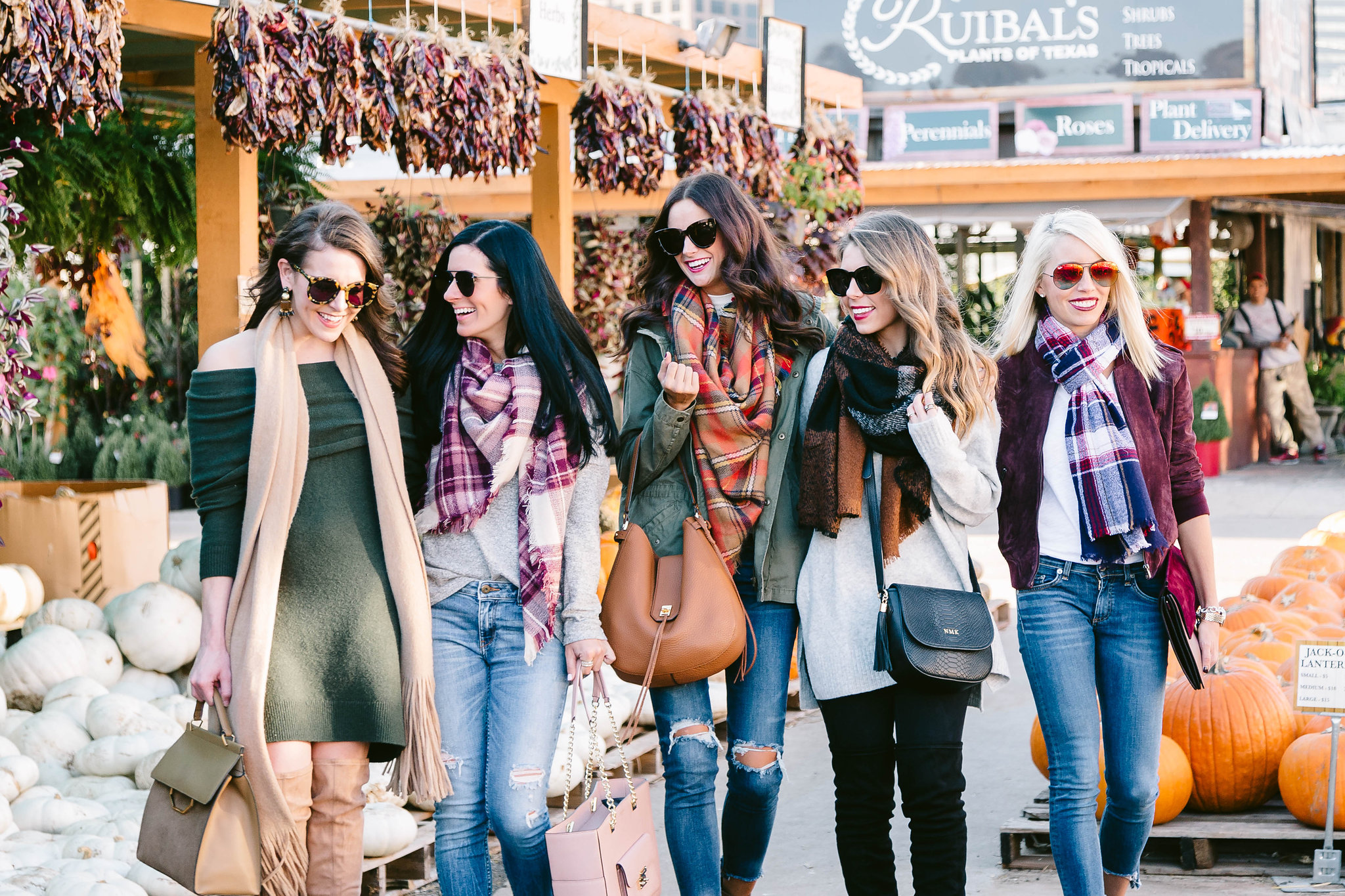 6aeef7c243 5 ways to wear a scarf from some of the most stylish girls in Dallas