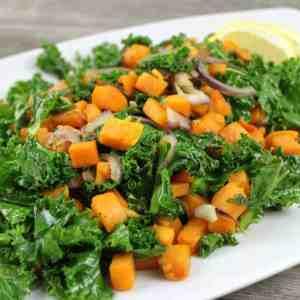 Kale and Sweet Potato Sauté