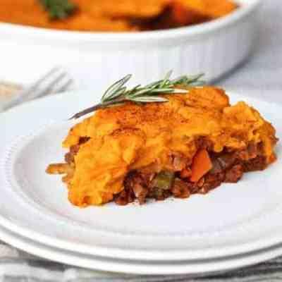 Shepherd's Pie with Sweet Potato Topping