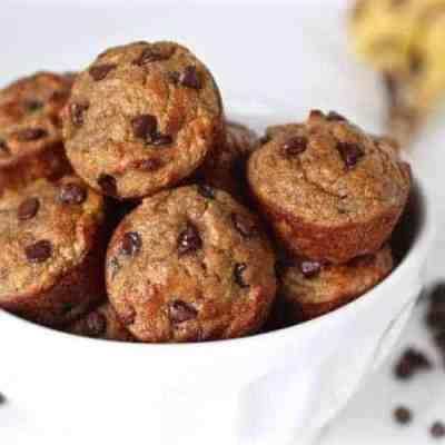 Grain-Free Banana Chocolate Chip Mini Muffins