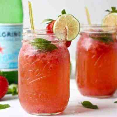 Strawberry Mojito Kombucha Cocktail