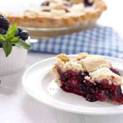 Paleo Black and Blueberry Pie