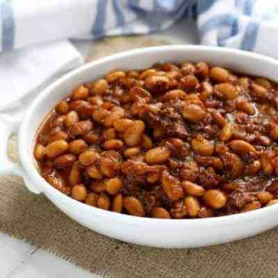 Slow Cooker Baked Beans with Bacon