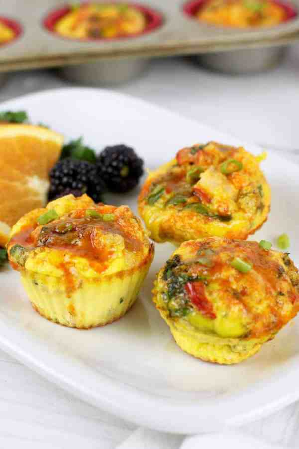 Buffalo Chicken Egg Muffins   The Real Food Dietitians   http://therealfoodrds.com/buffalo-chicken-egg-muffins/