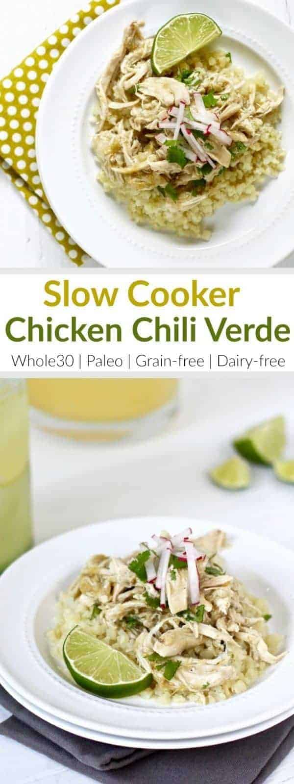 Slow Cooker Chicken Chili Verde   whole30 dinner recipes   paleo dinner recipes   grain-free dinner recipes   dairy-free dinner recipes   healthy dinner recipes   whole30 chicken recipes   paleo chicken recipes    The Real Food Dietitians #whole30dinner #whole30recipe #paleorecipe
