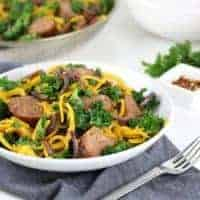 Butternut Squash Noodles with Sausage & Kale