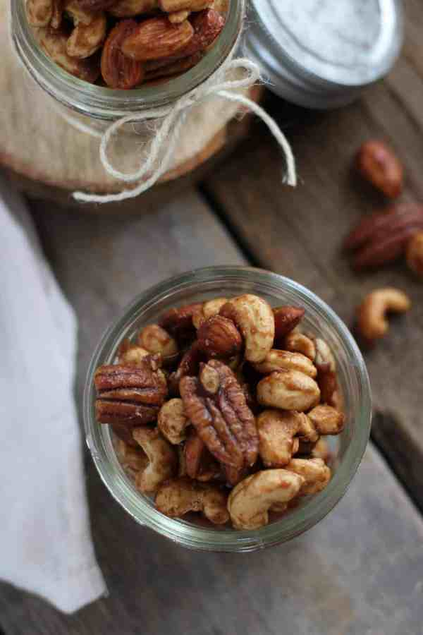 Slow Cooker Spiced Nuts | The Real Food Dietitians | https://therealfoodrds.com/slow-cooker-spiced-nuts/