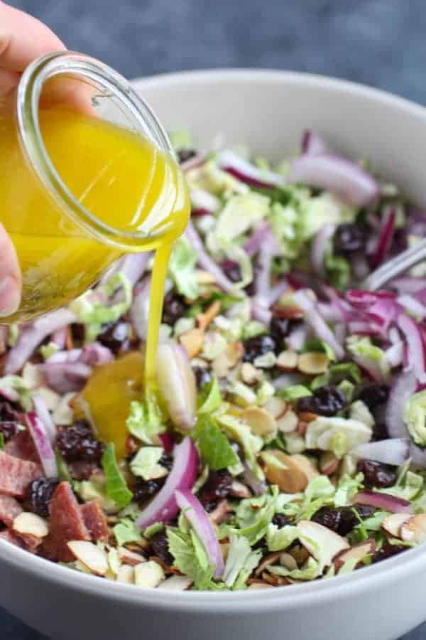 Brussels Sprouts Salad with Citrus Vinaigrette - The Real ...