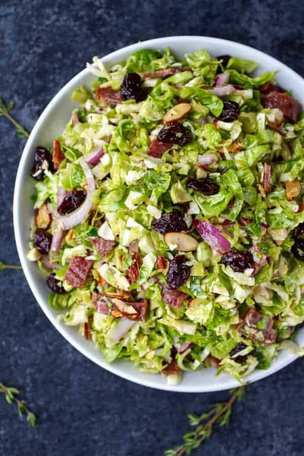 Shredded Brussels Sprouts with Citrus Vinaigrette