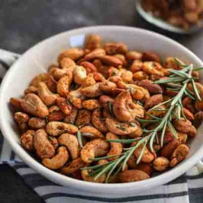 Chili and Rosemary Roasted Nuts