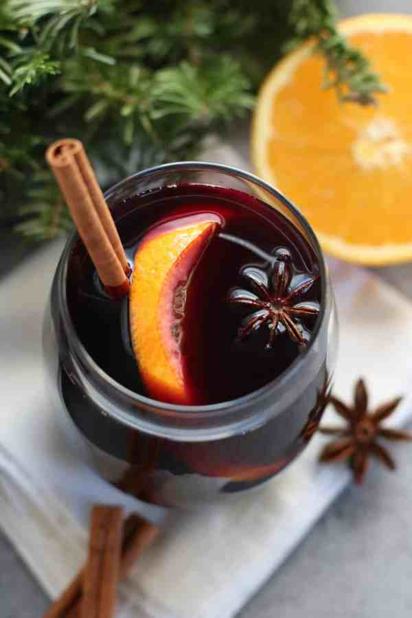 Slow Cooker Mulled Wine | Low-sugar | The Real Food Dietitians | http://therealfoodrds.com/slow-cooker-mulled-wine/