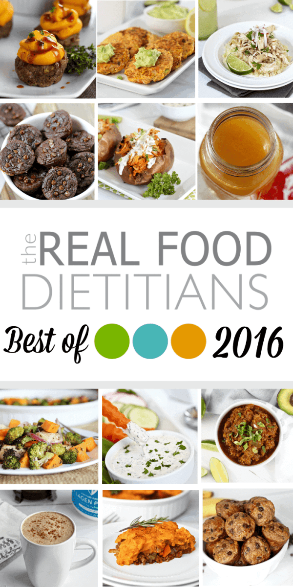 The Real Food Dietitians Best of 2016 - sharing with you our 12 most popular recipes of 2016 and all that's to come in 2017 | therealfoodrds.com