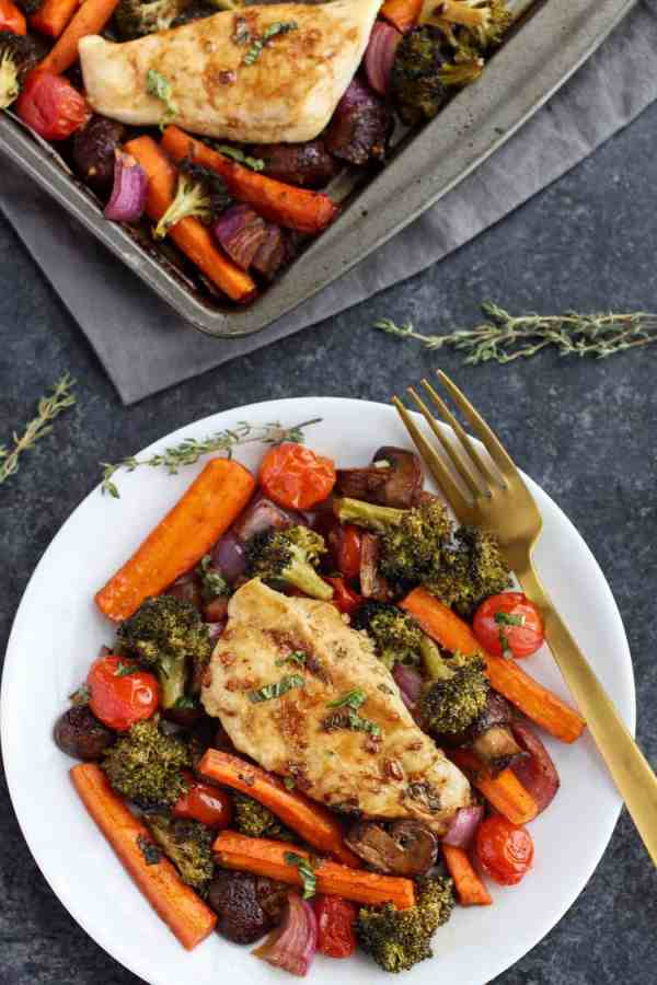 One-Pan Balsamic Chicken Veggie Bake