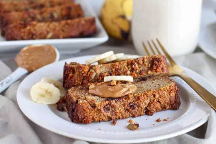 Salted Peanut Chocolate Banana Bread (Grain-free)