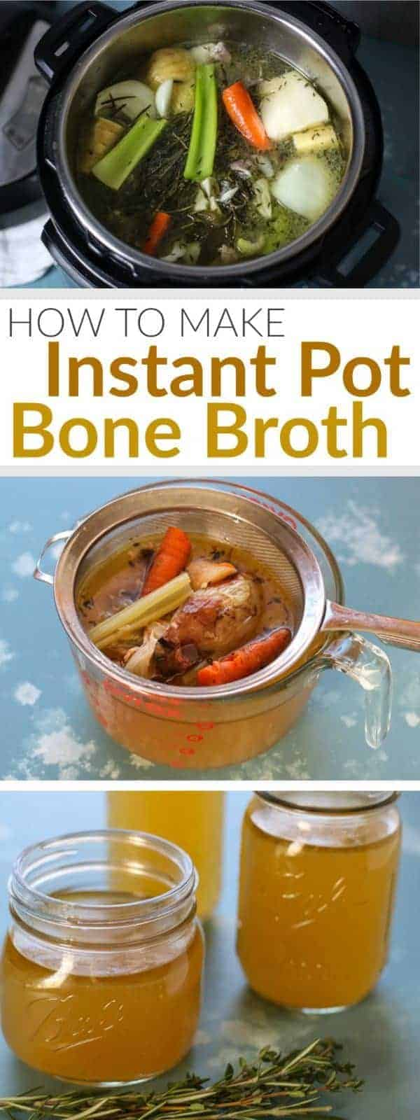 How to Make Instant Pot Bone Broth | Easy, nourishing and incredibly economical, bone broth is a great way to stretch your food dollar and provide your body with gut-healing goodness | therealfoodrds.com