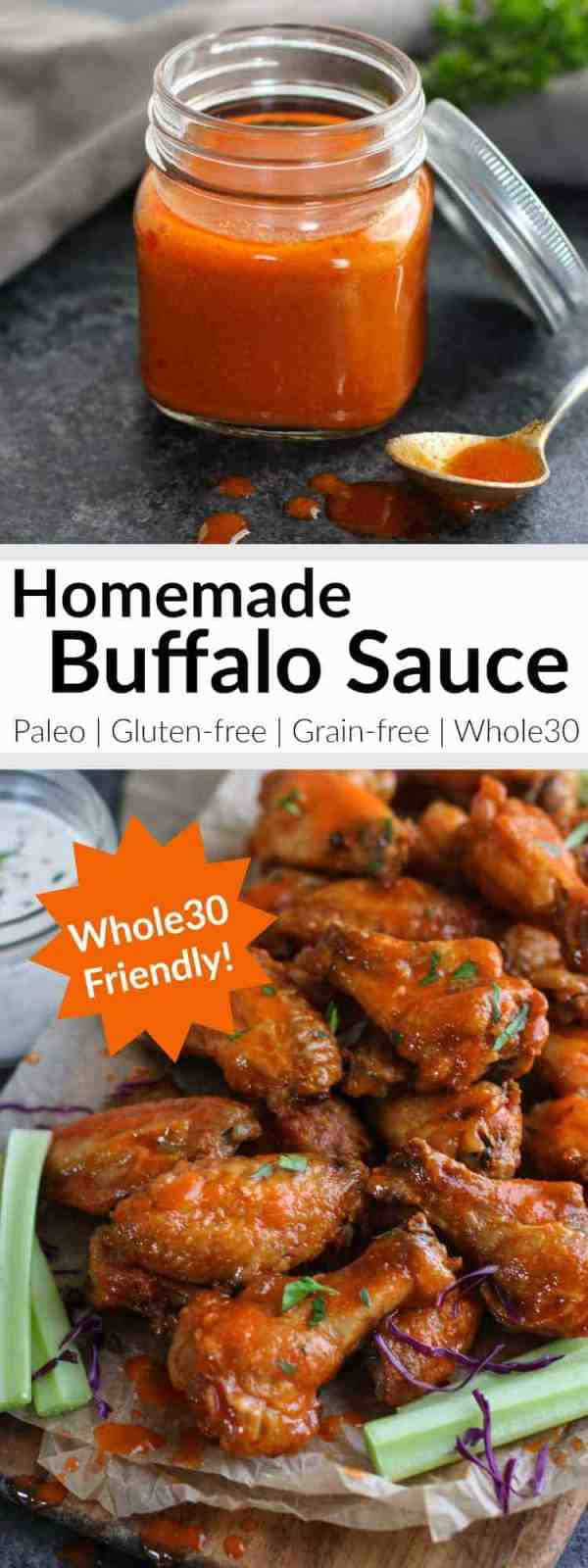 Whole30 Homemade Buffalo Sauce | 5-ingredient Homemade Buffalo Sauce for alllll the things! | Whole30 | Paleo | Gluten-free | https://therealfoodrds.com/homemade-buffalo-sauce-whole30/
