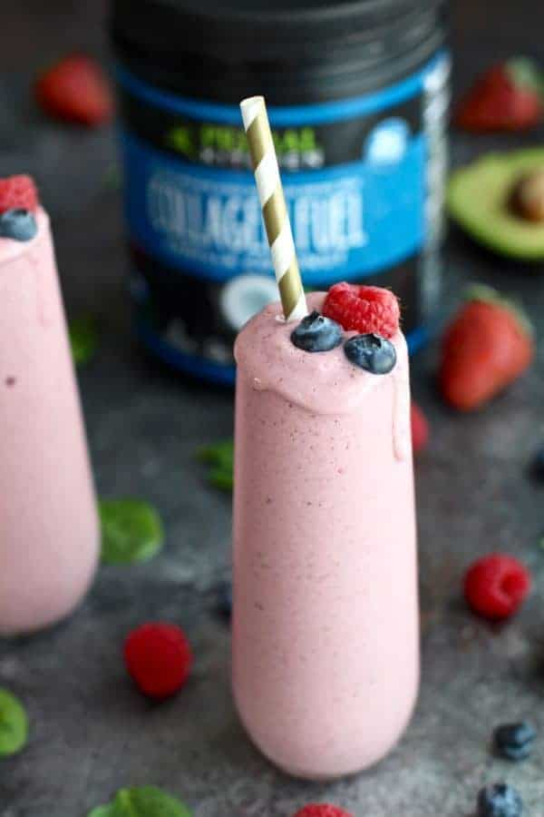 Anti-Aging Banana Berry Smoothie