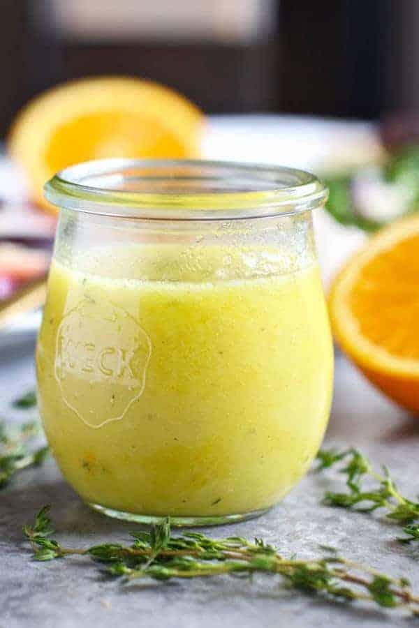 Citrus Vinaigrette with Thyme   http://therealfoodrds.com/citrus-vinaigrette-thyme/