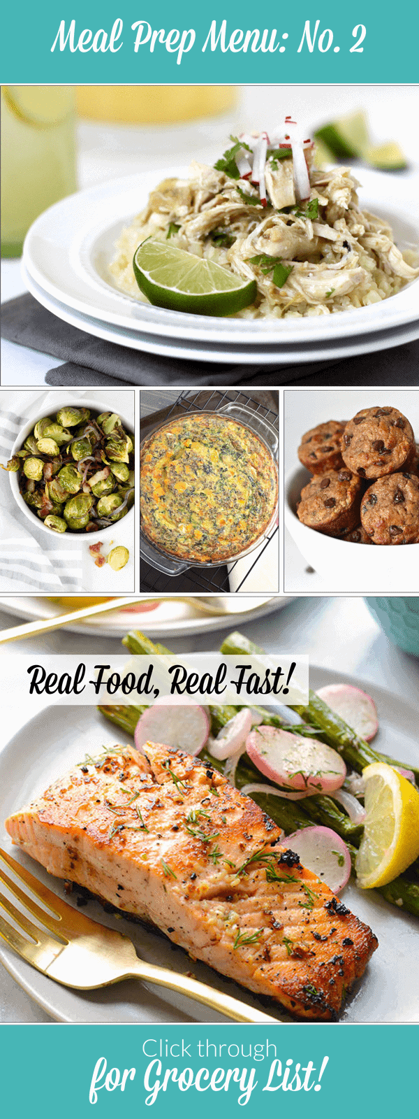 Weekly Meal Prep Menu : No. 2 | The Real Food Dietitians | https://therealfoodrds.com/weekly-meal-prep-menu-no-2/