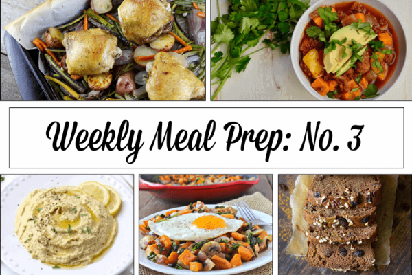 Weekly Meal Prep Menu: No. 3 | The Real Food Dietitians | http://therealfoodrds.com/weekly-meal-prep-menu-no-3/