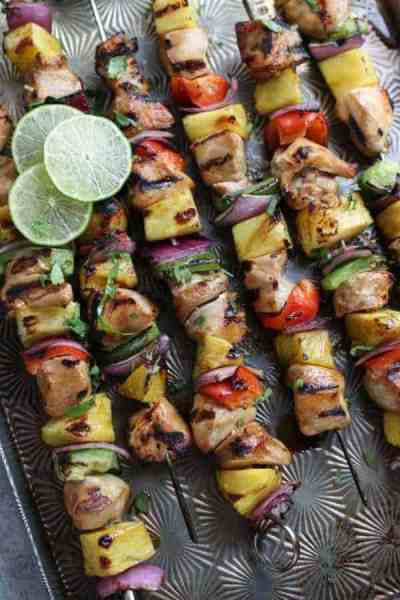 Teriyaki Chicken and Pineapple Kabobs | 30 Whole30 Appetizers | healthy appetizer recipes | whole30 approved appetizers | gluten-free appetizers | easy healthy appetizers || The Real Food Dietitians #whole30appetizers #whole30recipes #healthyappetizers
