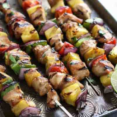 Teriyaki Chicken and Pineapple Kebabs