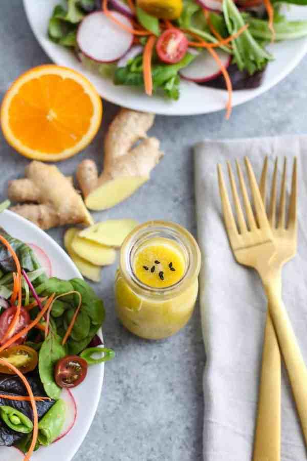 Ginger-Sesame Vinaigrette | The Real Food Dietitians | https://therealfoodrds.com/ginger-sesame-vinaigrette/