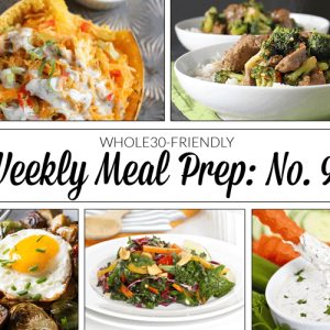Weekly Meal Prep Menu: No. 9