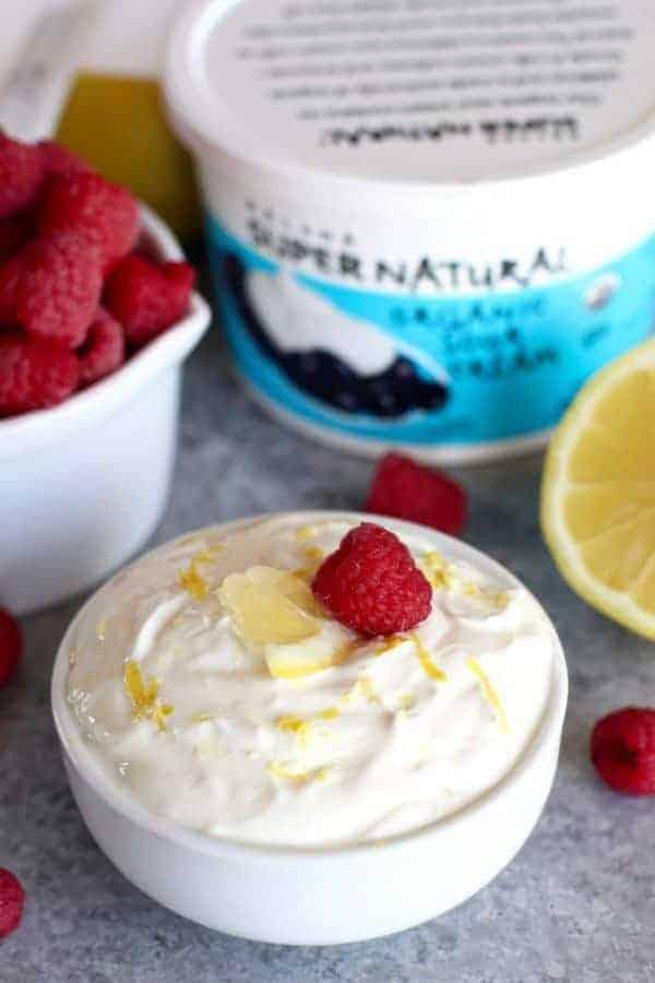 Kalona SuperNatural | Gluten-free Raspberry Lemon Coffee Cake | The Real Food Dietitians | https://therealfoodrds.com/raspberry-lemon-coffee-cake/