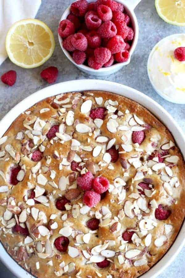 Gluten-free Raspberry Lemon Coffee Cake | The Real Food Dietitians | https://therealfoodrds.com/raspberry-lemon-coffee-cake/