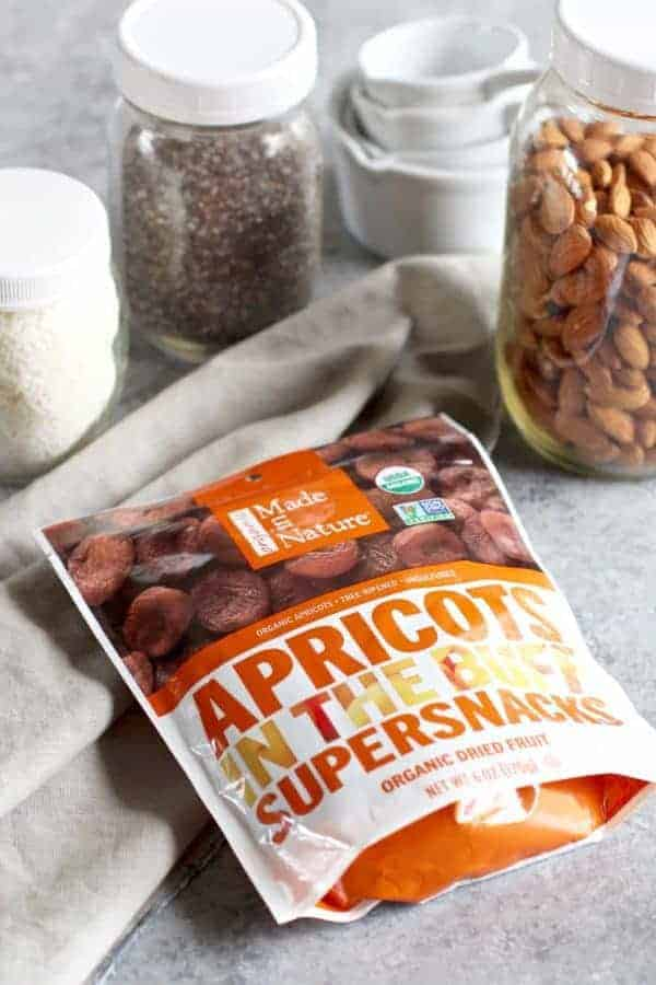 Made in Nature No-Bake Apricot Almond Coconut Energy Bars | The Real Food Dietitians | http://therealfoodrds.com/apricot-almond-coconut-energy-bars/