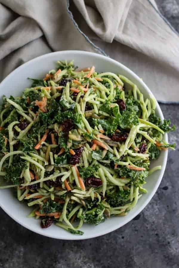 Creamy Broccoli Slaw | The Real Food Dietitians | http://therealfoodrds.com/creamy-broccoli-slaw/