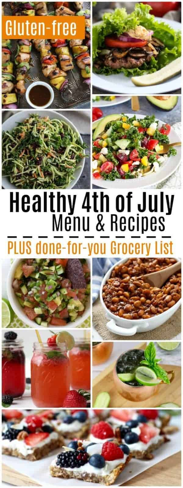 Healthy 4th of July Menu, Recipes & Grocery List | The Real Food Dietitians | http://therealfoodrds.com/healthy-4th-of-july-menu/