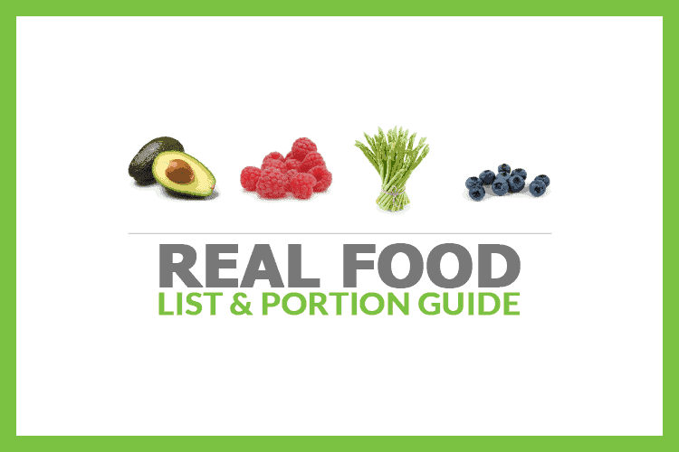 Real Food List & Portion Guide
