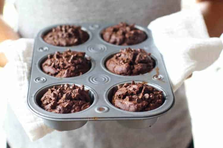 Grain-free Double Chocolate Zucchini Muffins