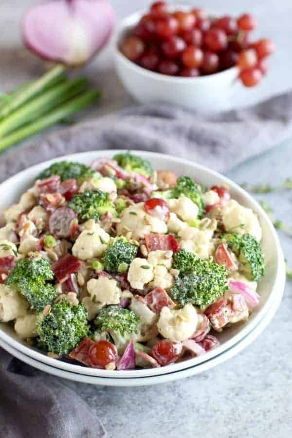 Broccoli-Cauliflower Salad (Whole30)