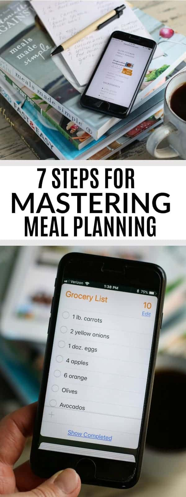 7 Steps for Mastering Meal Planning in 2018   meal planning tips   meal planning made easy   how to meal plan   meal planning ideas   healthy meal planning tips    The Real Food Dietitians #mealplanning #healthymealplanning #mealplanningtips