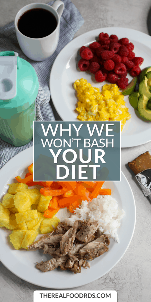 Long Pin Image for Why We Won't Bash Your Diet