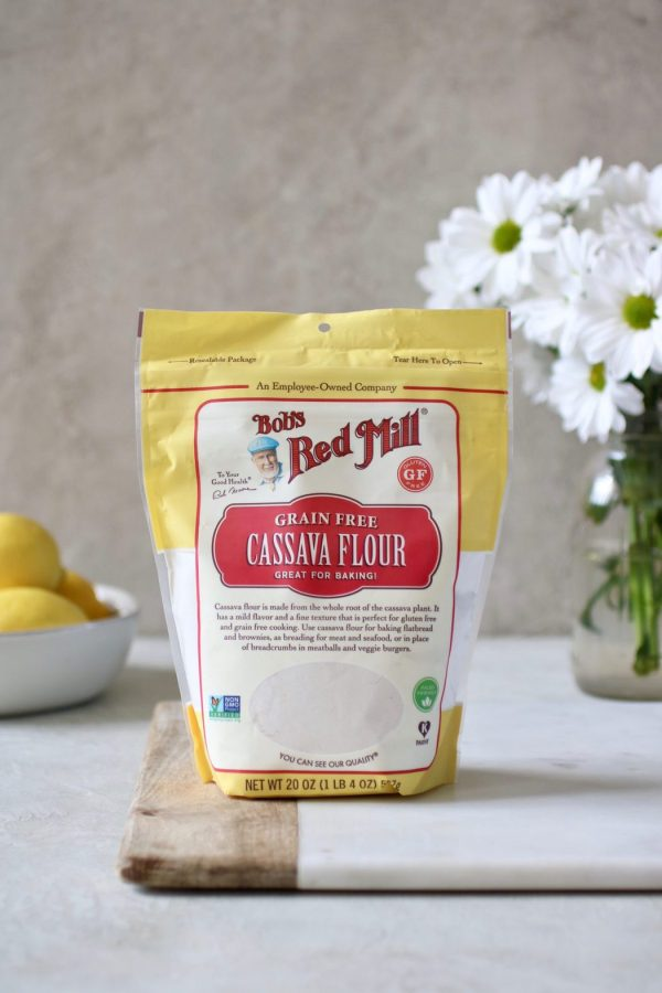 Photo of Bob's Red Mill Cassava Flour - an ingredient in the Paleo Lemon Poppy Seed Cookies.