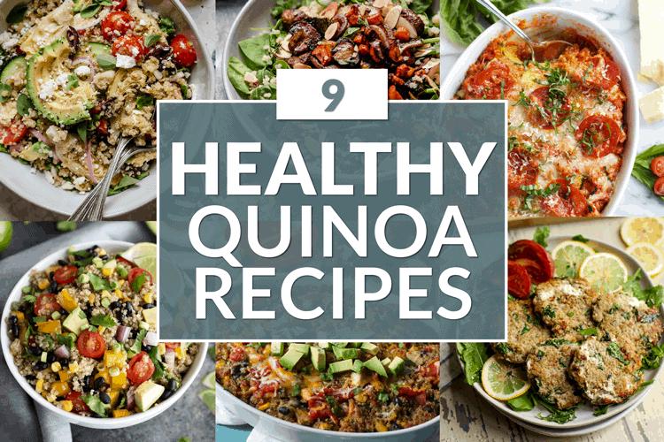 Collage of Healthy Quinoa Recipes