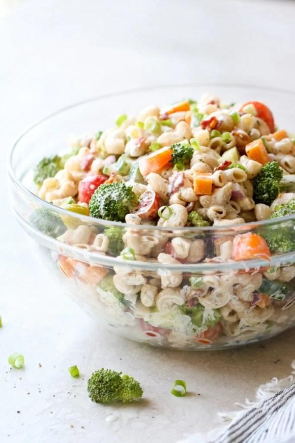 Photo of gluten-free Creamy Ranch Pasta Salad